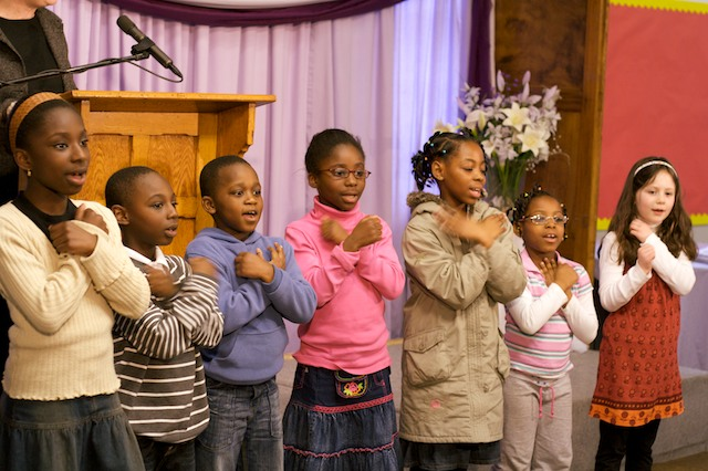 Children at Paragon Chapel